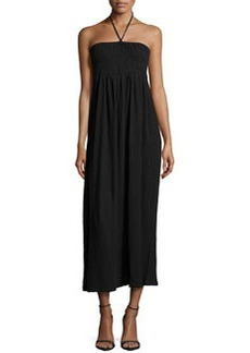 Joie Acadia Smocked Halter Maxi Dress, Caviar
