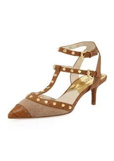 MICHAEL Michael Kors Jade Studded T-Strap Sandal