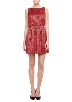 Vita Metallic Jacquard Dress   Vita Metallic Jacquard Dress