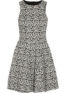 Tibi Leopard-patterned stretch-knit dress