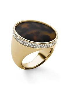 Michael Kors Tortoise Acetate Pave Dome Ring