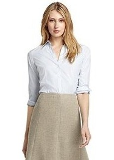 Petite Fitted Non-Iron Stripe Dress Shirt