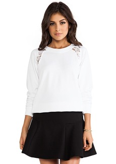 Rebecca Taylor Sweatshirt in White