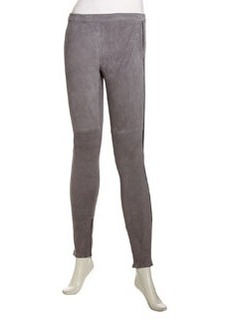 Joie Alsna Suede Leggings, Steel