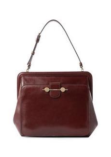 JASON WU Daphne Leather Shoulder Bag, Bordeaux/Burgundy