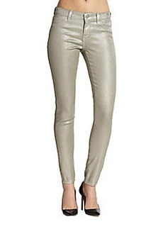 J Brand Metallic Coated Super Skinny Jeans