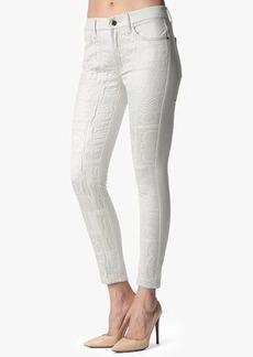 "Malhia Kent: Fashion Pieced Skinny in White Cathedral (28"" Inseam)"