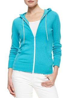 Michael Kors Knit Hooded Zip Sweatshirt