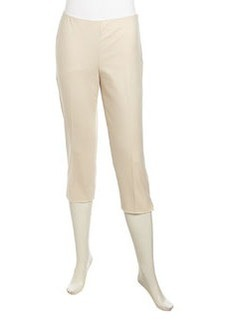 Lafayette 148 New York Cropped Stretch-Knit Pants, Raffia