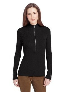 Calvin Klein Women's 1/2 Zip Rib Sweater