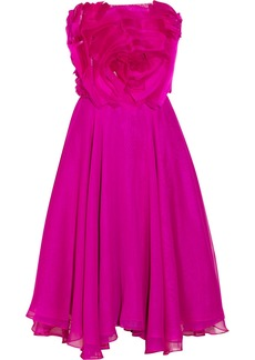 Badgley Mischka Couture embellished silk-chiffon and organza dress