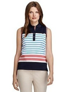ProSport™ Sleeveless Stripe Polo