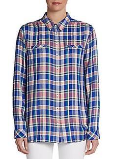 C&C California Long-Sleeve Woven Plaid Shirt