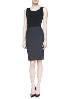 Escada Pencil Skirt with Slit, Gray