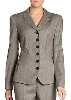 Lafayette 148 New York Lorianna Stretch Wool/Silk Tweed Jacket