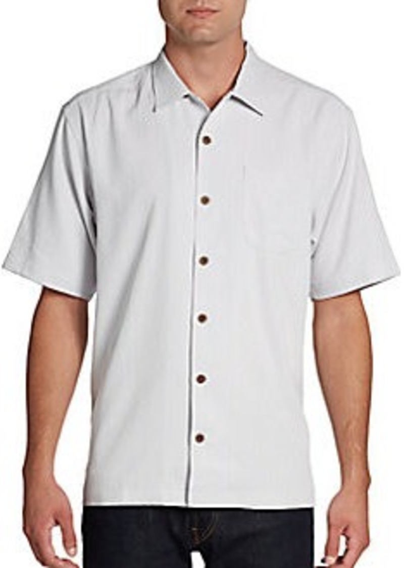 Tommy Bahama Tiki Bay Tonal Striped Silk Shirt Shop It