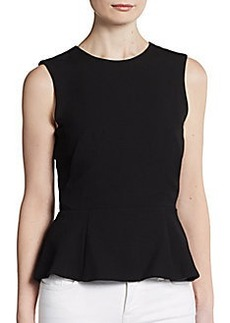 French Connection Coco Crepe Peplum Top
