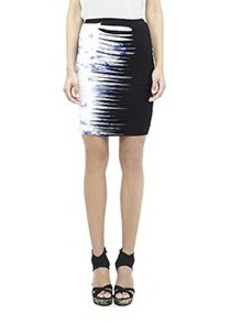 Splash Dyed Striped Skirt