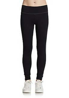 Miraclesuit Performance Tuxedo-Stripe Tummy-Control Leggings