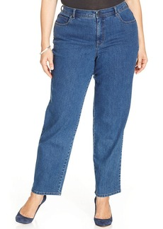 Charter Club Plus Size Kate Straight-Leg Jeans, Antique Indigo Wash
