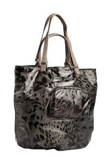 Kooba dark forest green nylon 'Audra' reversible tote