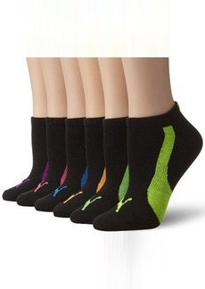 Puma Women's 6 Pack Ladies Non Terry Low Cut Sock