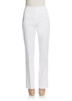 Lafayette 148 New York Cotton Straight-Leg Pant