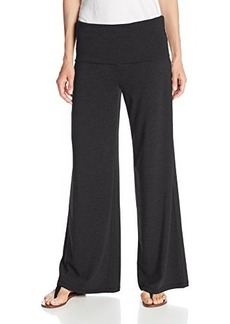 Calvin Klein Performance Women's Relaxed Wide Leg Pant with Rollover Waistband