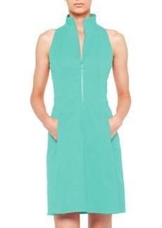Akris punto Zip-Front Pool Dress with Mock Neckline