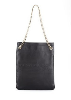HDG Flat Large Lambskin Tote Bag, Black   HDG Flat Large Lambskin Tote Bag, Black