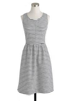 Stripe back-zip dress
