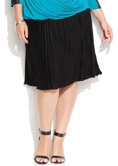 Calvin Klein Plus Size Pleated A-Line Skirt