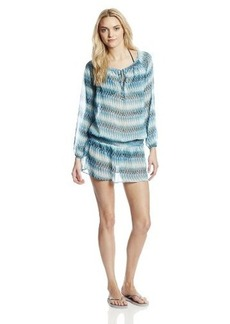 Jones New York Women's Striped V-Neck Tunic