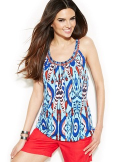INC International Concepts Beaded-Neck Sleeveless Top