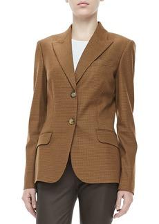 Michael Kors Check Two-Button Jacket