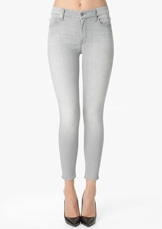 """The Slim Illusion High Waist Cropped Skinny in Grey (27"""" Inseam)"""