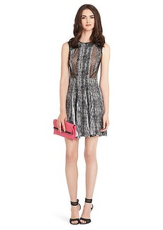 Ida Printed Silk Dress