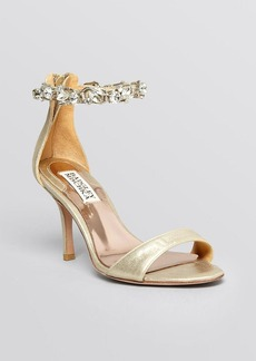 Badgley Mischka Ankle Strap Evening Sandals - Clark High Heel