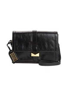 Badgley Mischka black leather 'Lena' convertible satchel