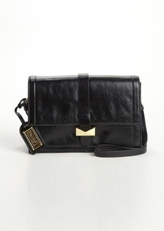 Badgley Mischka black leather 'Lena' convertible satchel