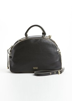Badgley Mischka black leather 'Victoria' convertible bowler bag