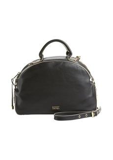 Badgley Mischka black leather 'Victoria' convertible bowler bag