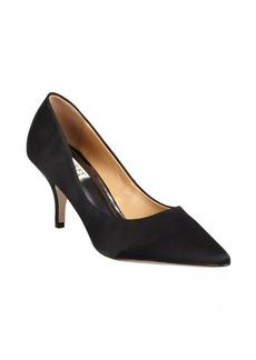 Badgley Mischka black satin pointed toe 'Monika II' pumps