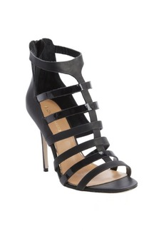 Badgley Mischka black strappy leather 'Kimber' pumps