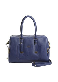 Badgley Mischka blue leather 'Ava' convertible satchel