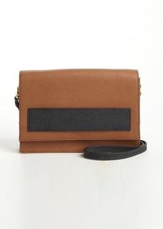 Badgley Mischka cognac leather 'Jillian' convertible satchel