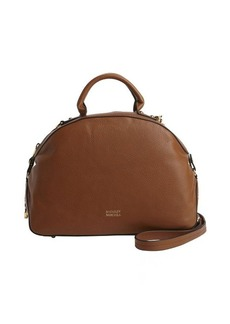 Badgley Mischka cognac leather 'Victoria' convertible bowler bag