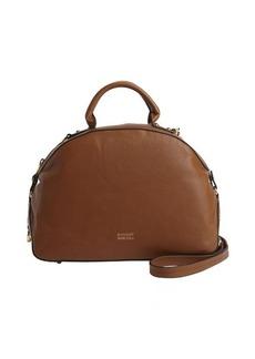 Badgley Mischka cognac leather 'Victoria' convertible bowler bag