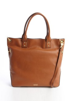 Badgley Mischka cognac leather 'Victoria' convertible top handle tote