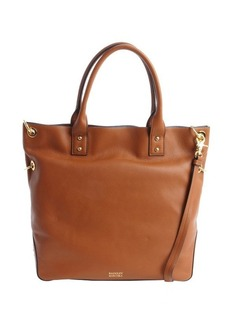 Badgley Mischka cognac leather 'Victoria' convertible tote bag